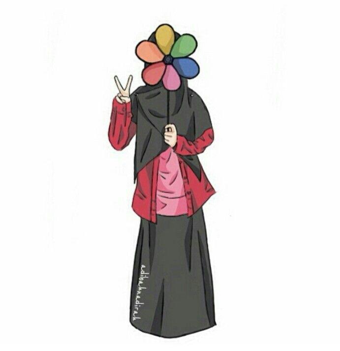 Gambar Hijab Kartun Keren - HD Wallpaper