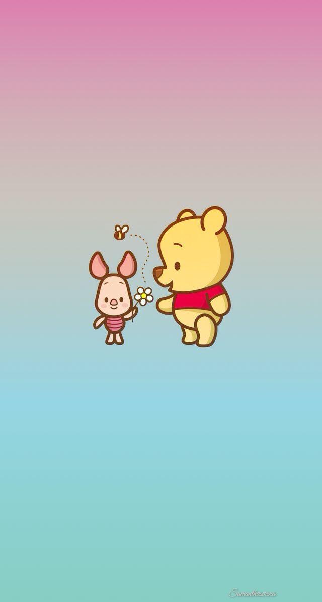 Winnie The Pooh & Piglet Iphone Lock Screen/ Home Screen/ - Winnie The Pooh Pastel - HD Wallpaper
