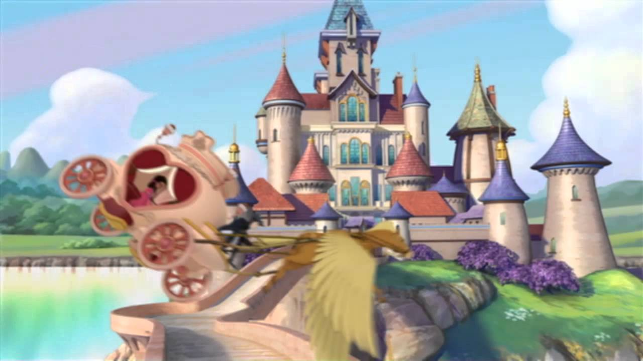 Sofia The First Castle Cartoon - HD Wallpaper