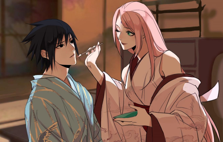 Photo Wallpaper Naruto, Naruto, Sasuke Uchiha, Sakura - Sakura Haruno Sasuke - HD Wallpaper
