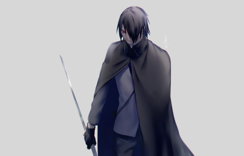 Photo Wallpaper Sword, Naruto, Naruto, Sasuke Uchiha - Cape - HD Wallpaper