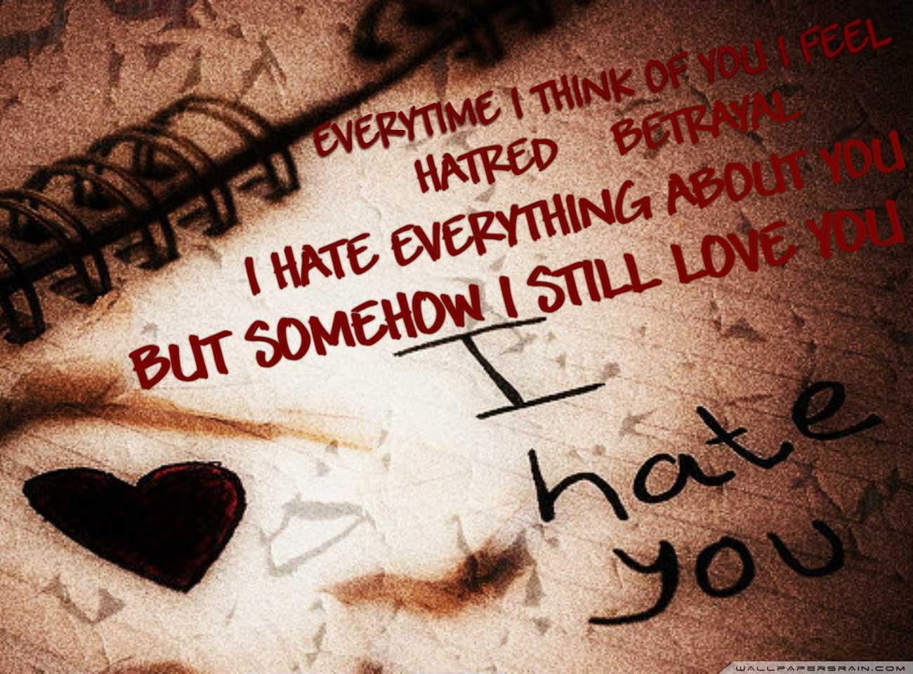 Love I Hate You - HD Wallpaper