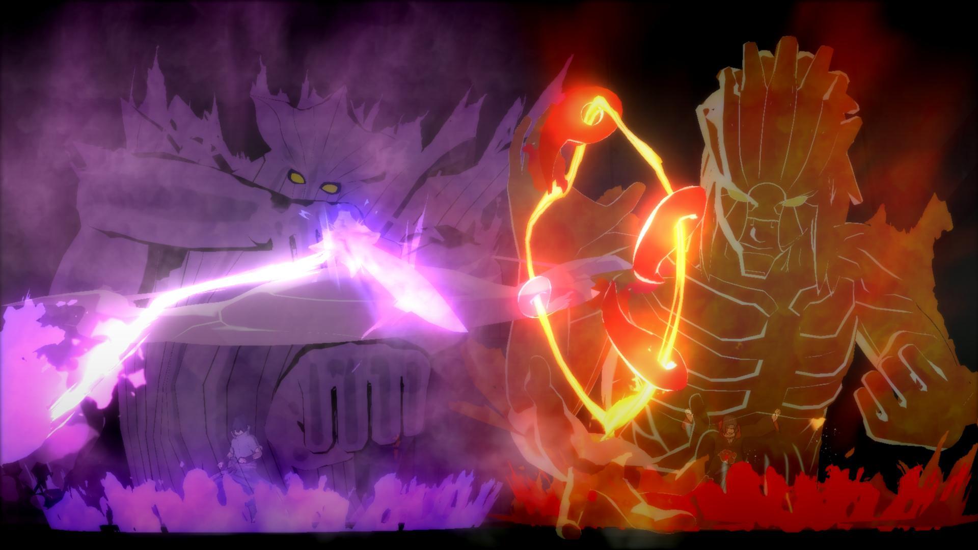 Itachi And Sasuke Susanoo - HD Wallpaper