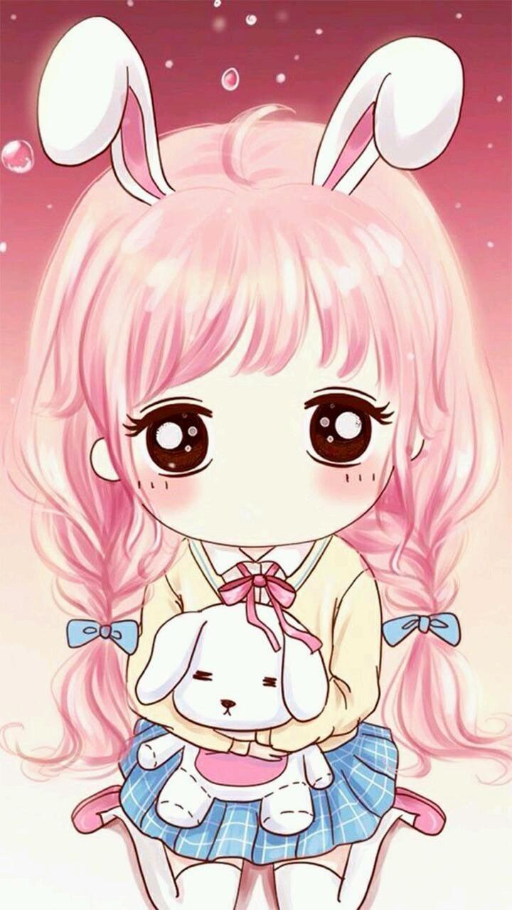 Kawaii Cute Anime Girl 720x1280 Wallpaper Teahub Io