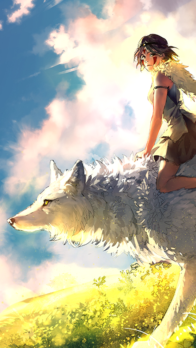 Princess Mononoke Wallpaper Phone 640x1136 Wallpaper Teahub Io