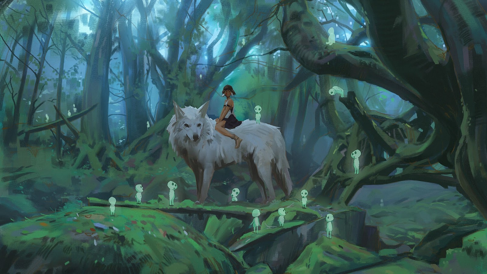 Anime Princess Mononoke Princess Mononoke 1600x900 Wallpaper Teahub Io