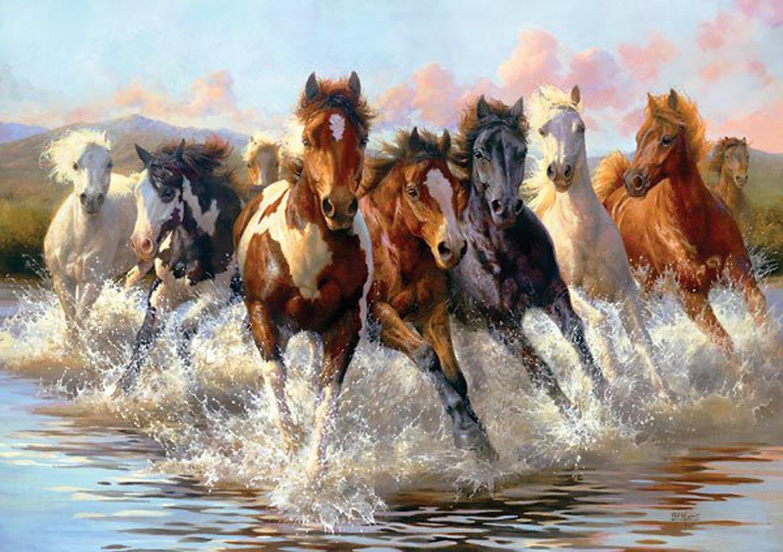 7 Horses Painting 1440x1015 Wallpaper Teahub Io