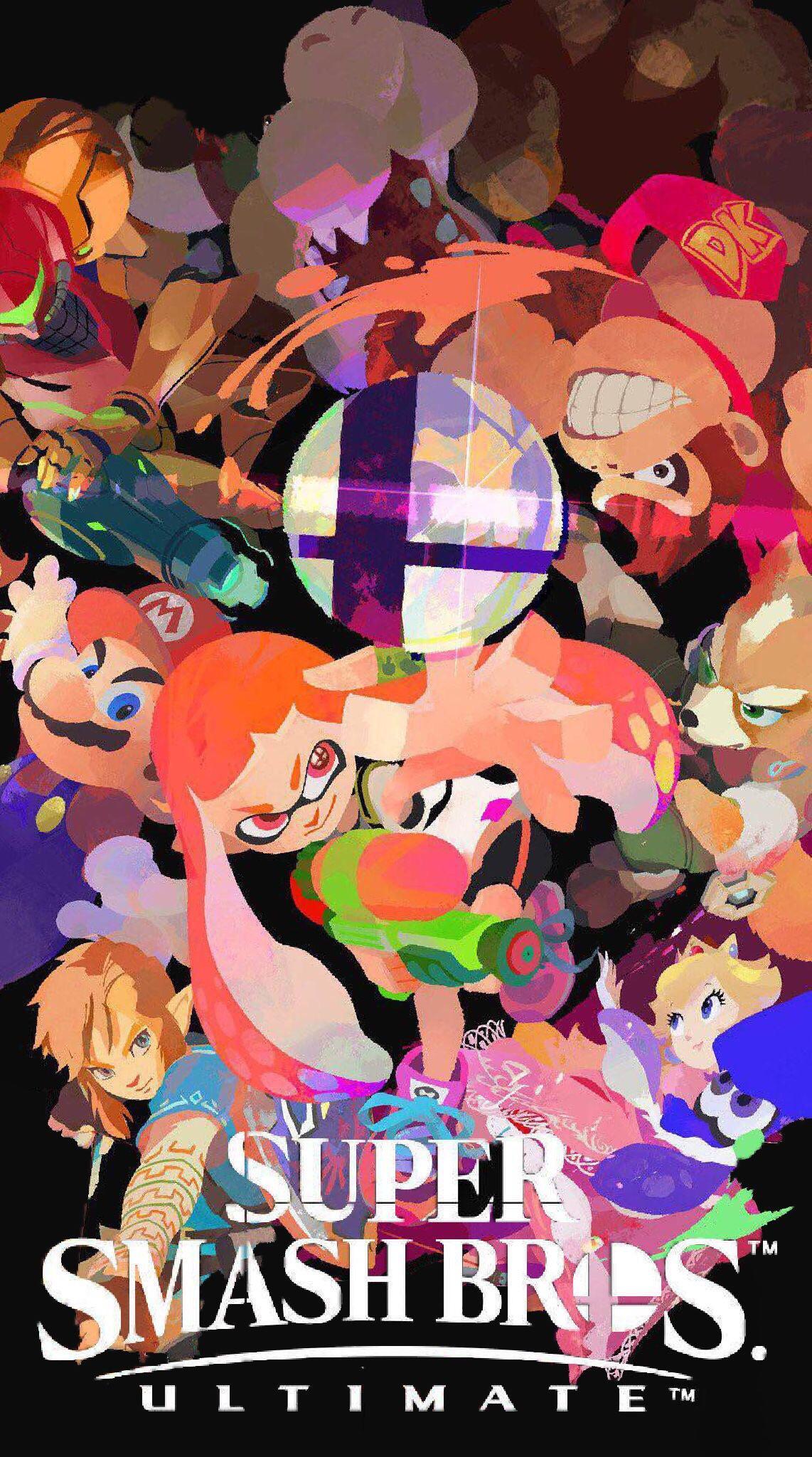Iphone Super Smash Bros Ultimate - HD Wallpaper