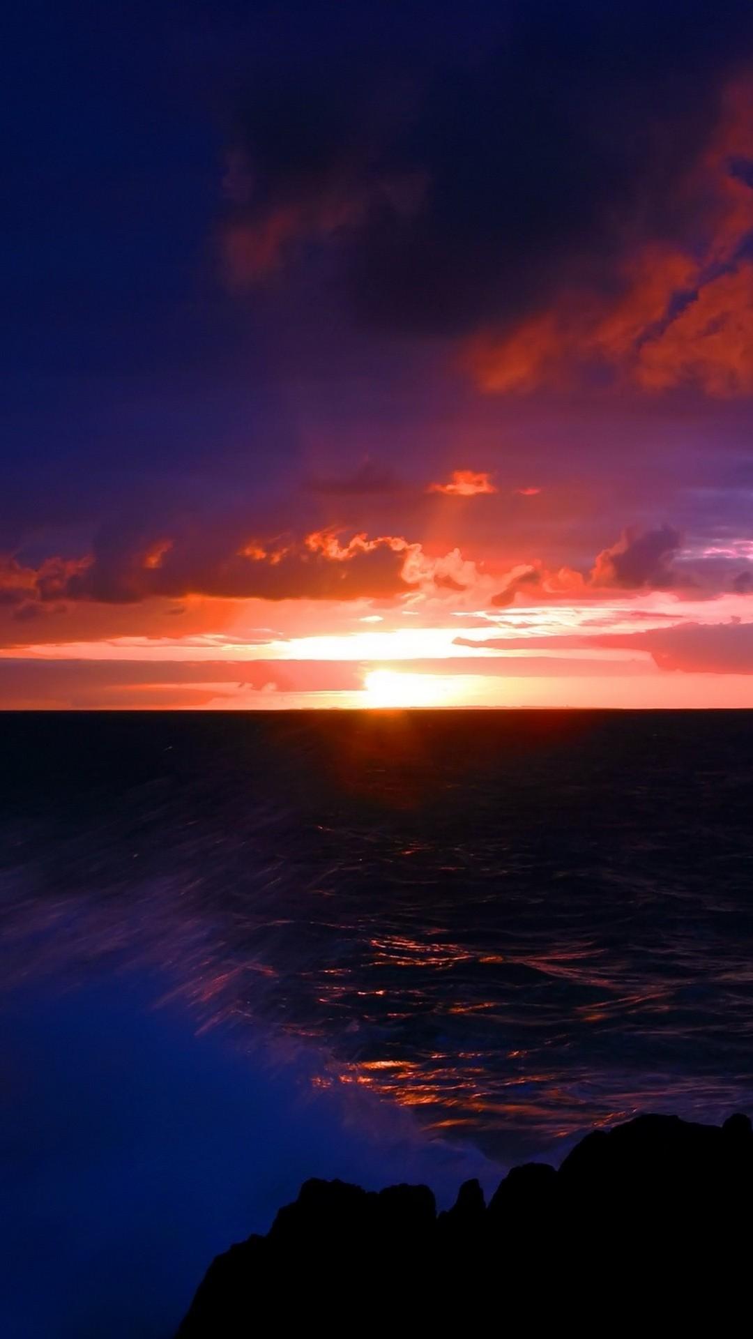 Sunset Iphone Home Screen Wallpaper With High-resolution - Sunset Dark - HD Wallpaper