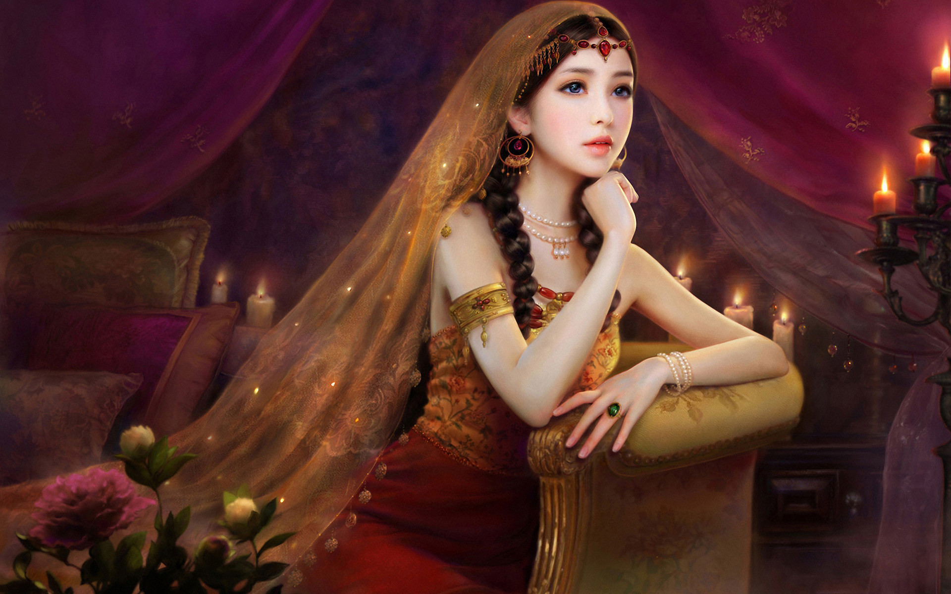 Queen Wallpaper Hd New Waiting For Someone   Data Src - Most Beautiful Girl Paintings - HD Wallpaper