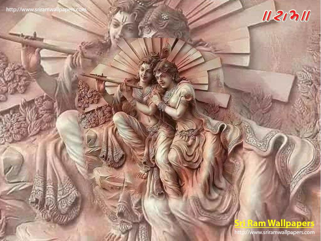 Krishna Radha 3d Image For Mobile - 3d Wallpaper Of Radha Krishna - HD Wallpaper
