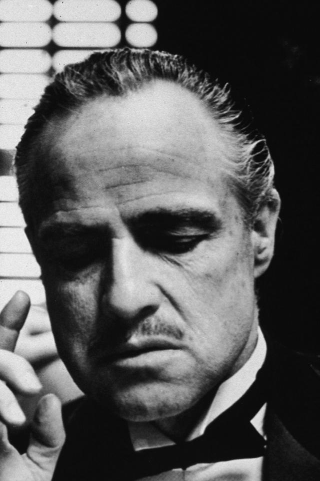 Marlon Brando The Godfather Portrait - HD Wallpaper
