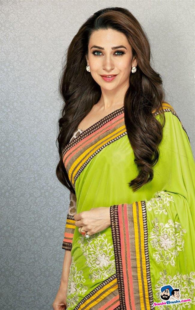 64 641841 karishma kapoor loose hairstyles for saree