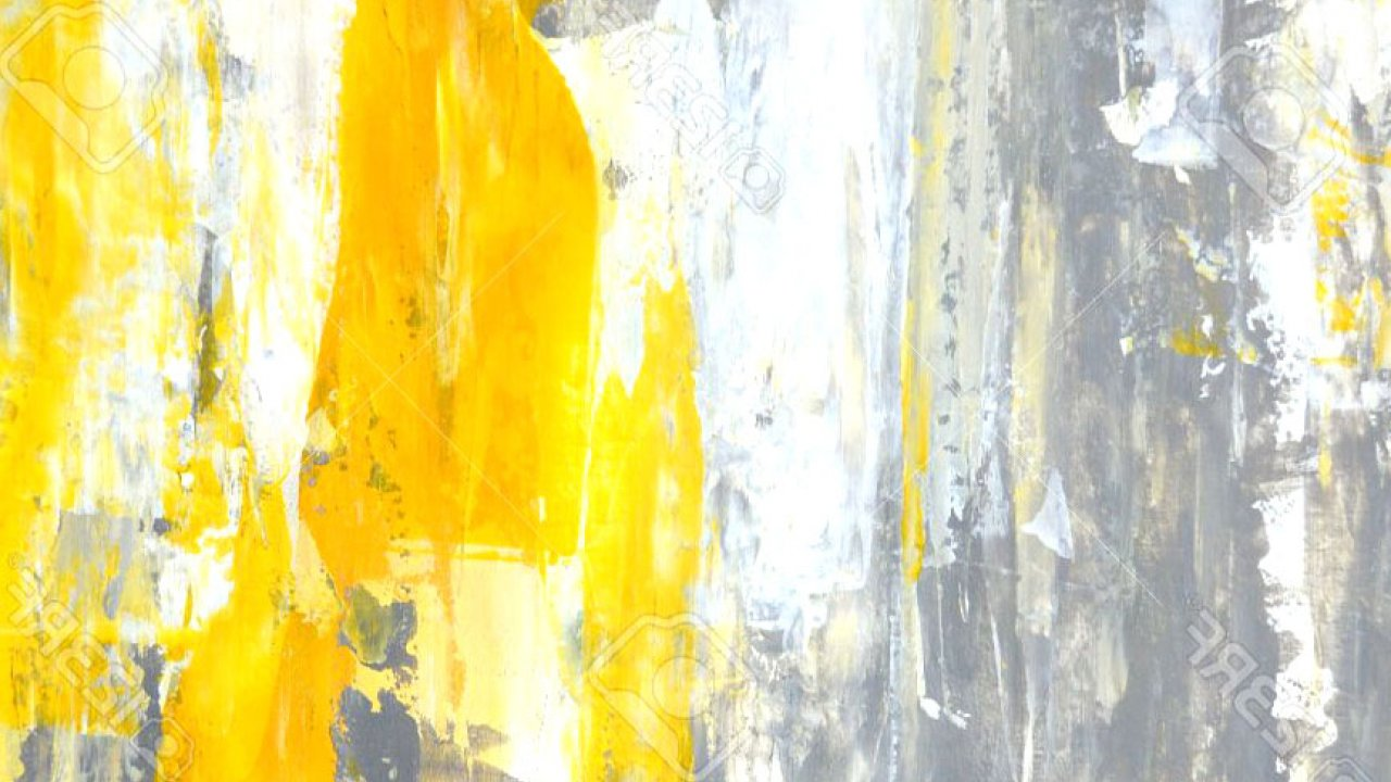 Grey, And, Yellow, Abstract, Art, Painting, Stock, - Abstract Yellow And Grey - HD Wallpaper