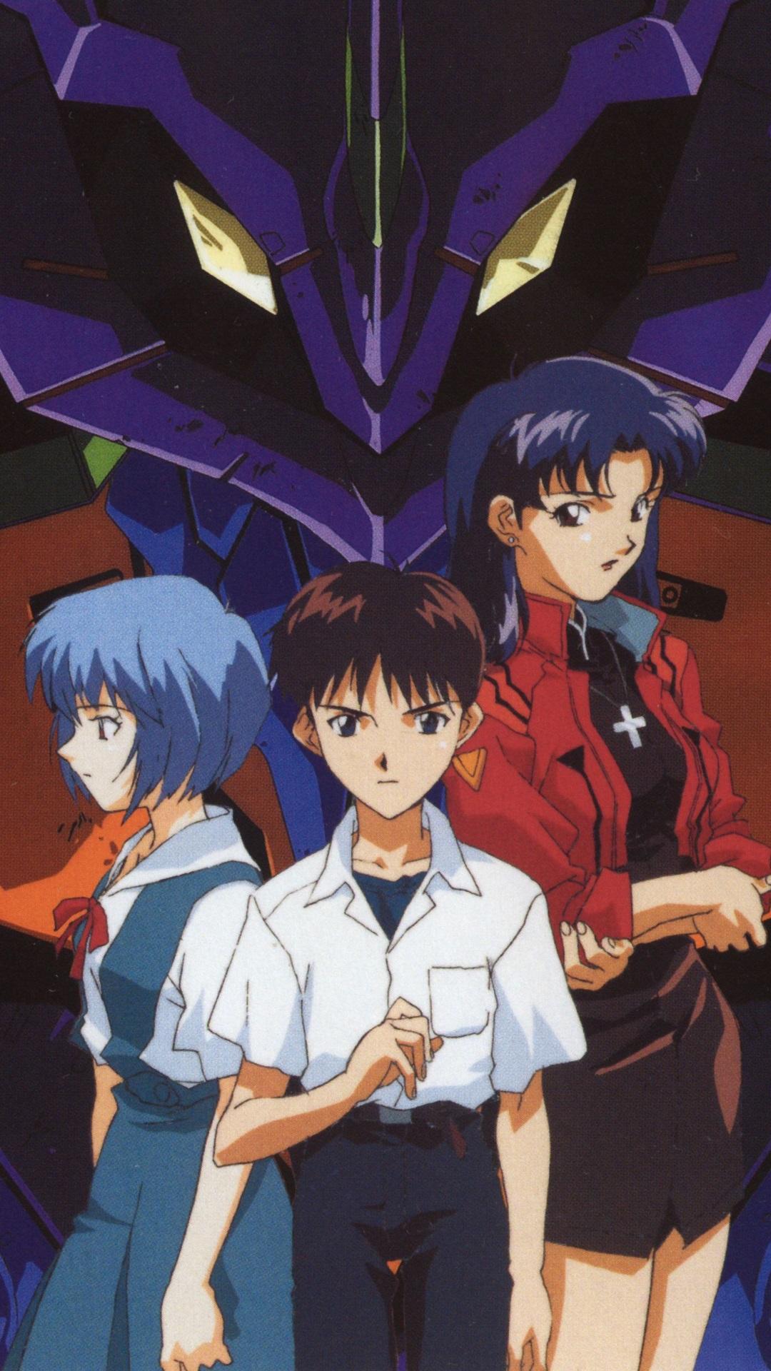 Neon Genesis Evangelion Misato Katsuragi Rei Ayanami Neon Genesis Evangelion Wallpaper Android 1080x1920 Wallpaper Teahub Io