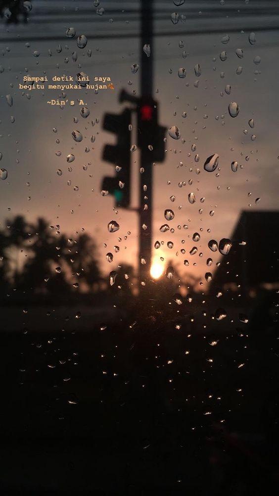 Hujan Aesthetic - HD Wallpaper