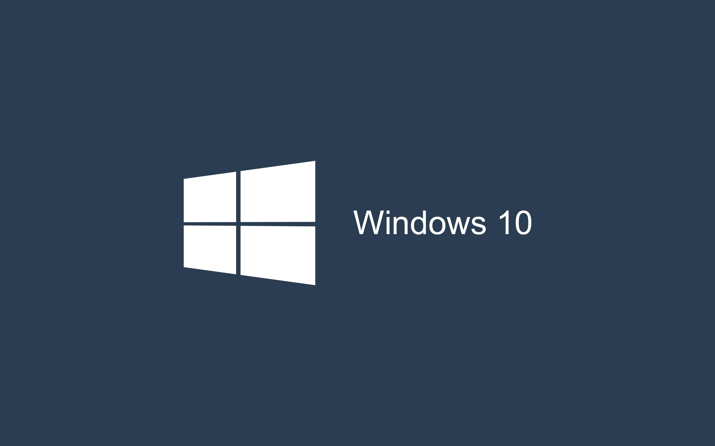 Windows 10 Dark Blue - HD Wallpaper