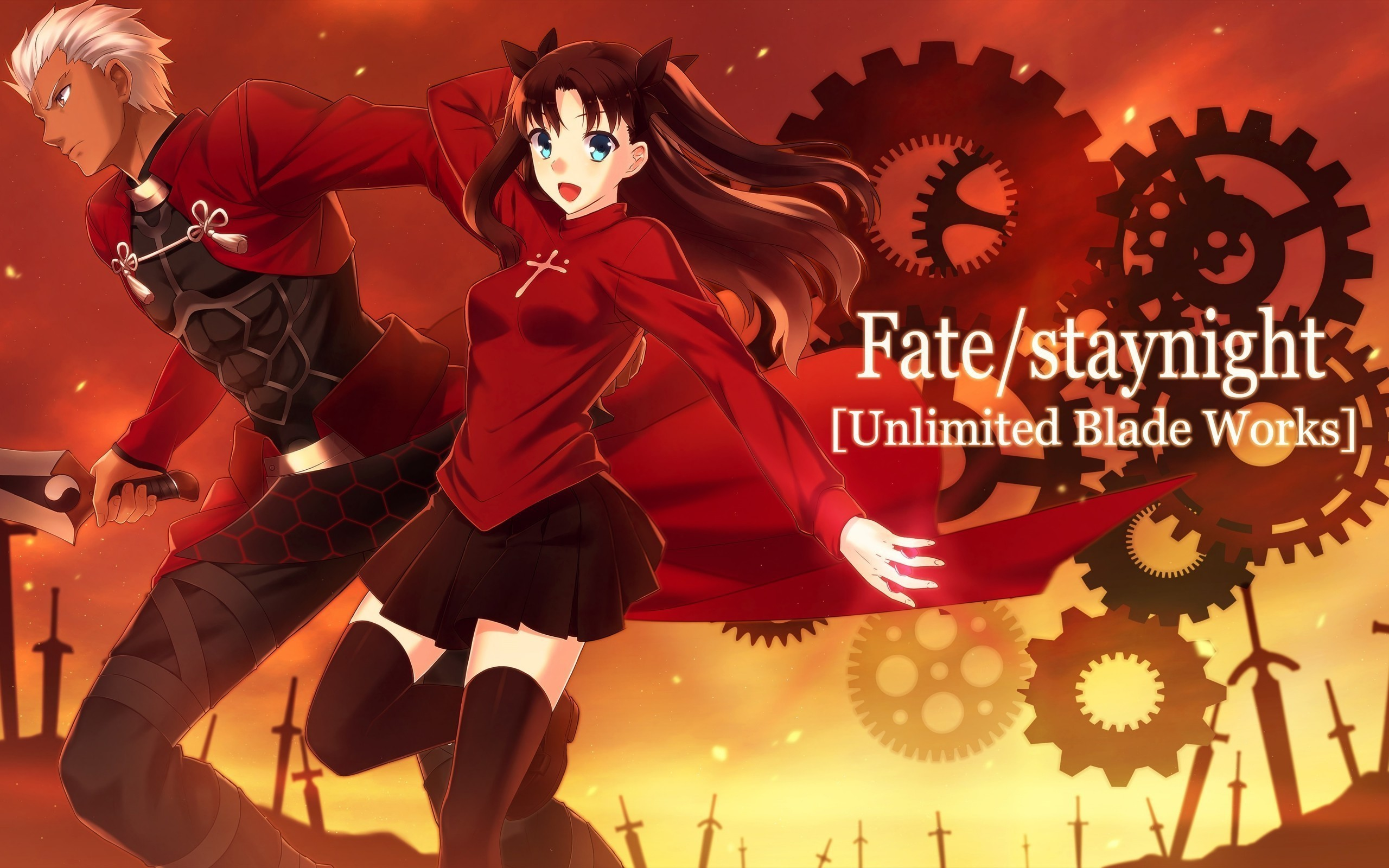 Indo Sub Fate Stay Night Unlimited Blade Works Eps Fate Stay Night 2560x1600 Wallpaper Teahub Io
