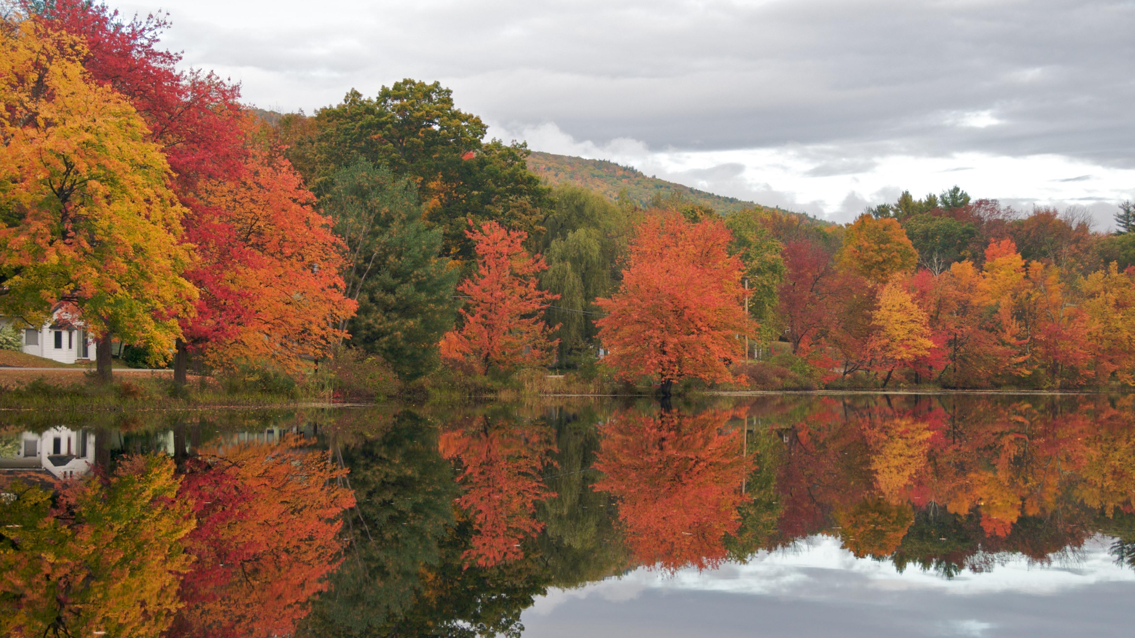 New England Fall - HD Wallpaper