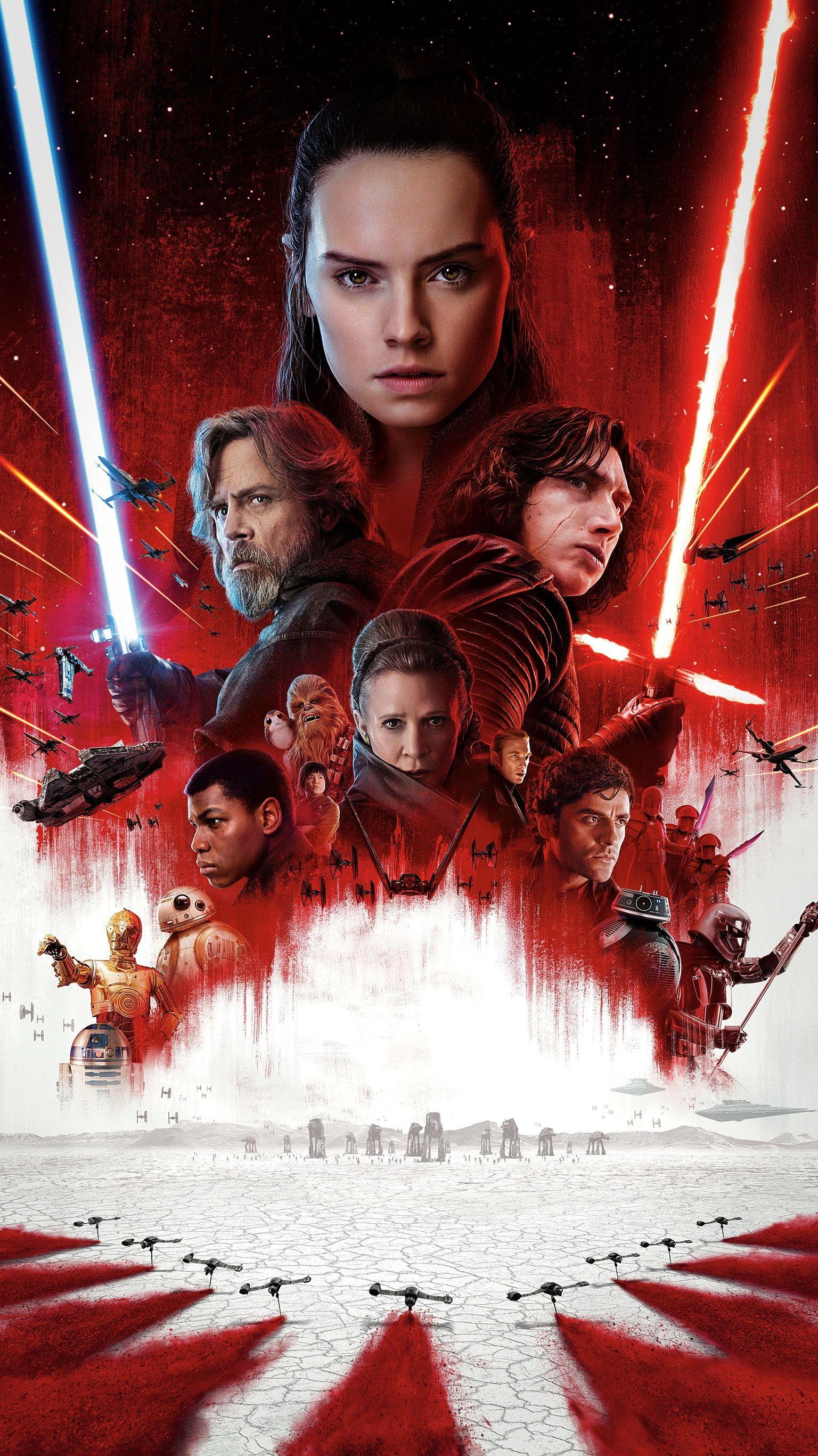 Star Wars The Last Jedi Poster 1536x2733 Wallpaper Teahub Io