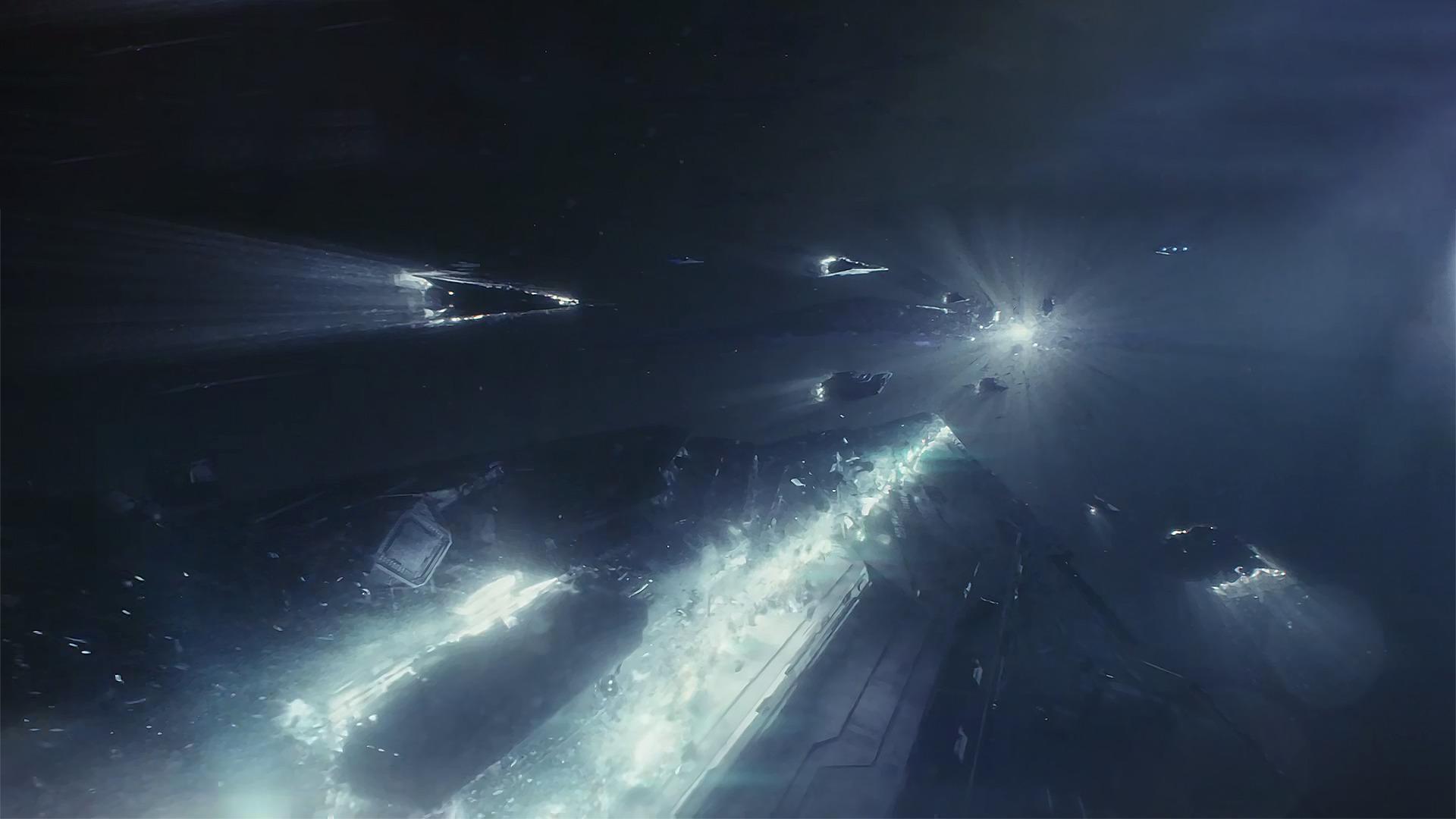 Star Wars The Last Jedi Lightspeed Crash 1920x1080 Wallpaper Teahub Io