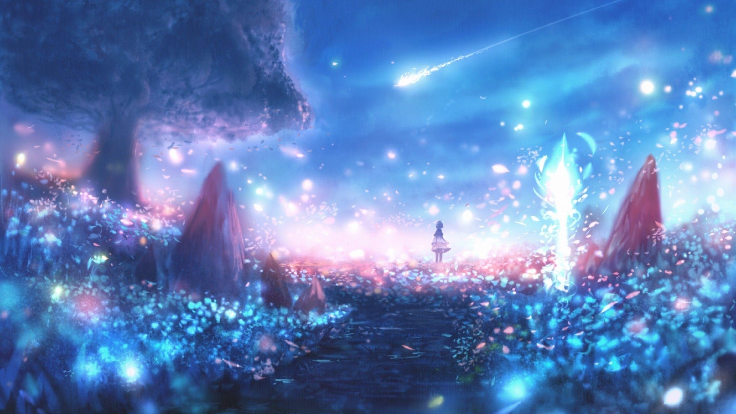 Wallpaper Anime 30 Anime Wallpapers Download At Wallpaperbro Beautiful Anime Background Night 2560x1440 Wallpaper Teahub Io