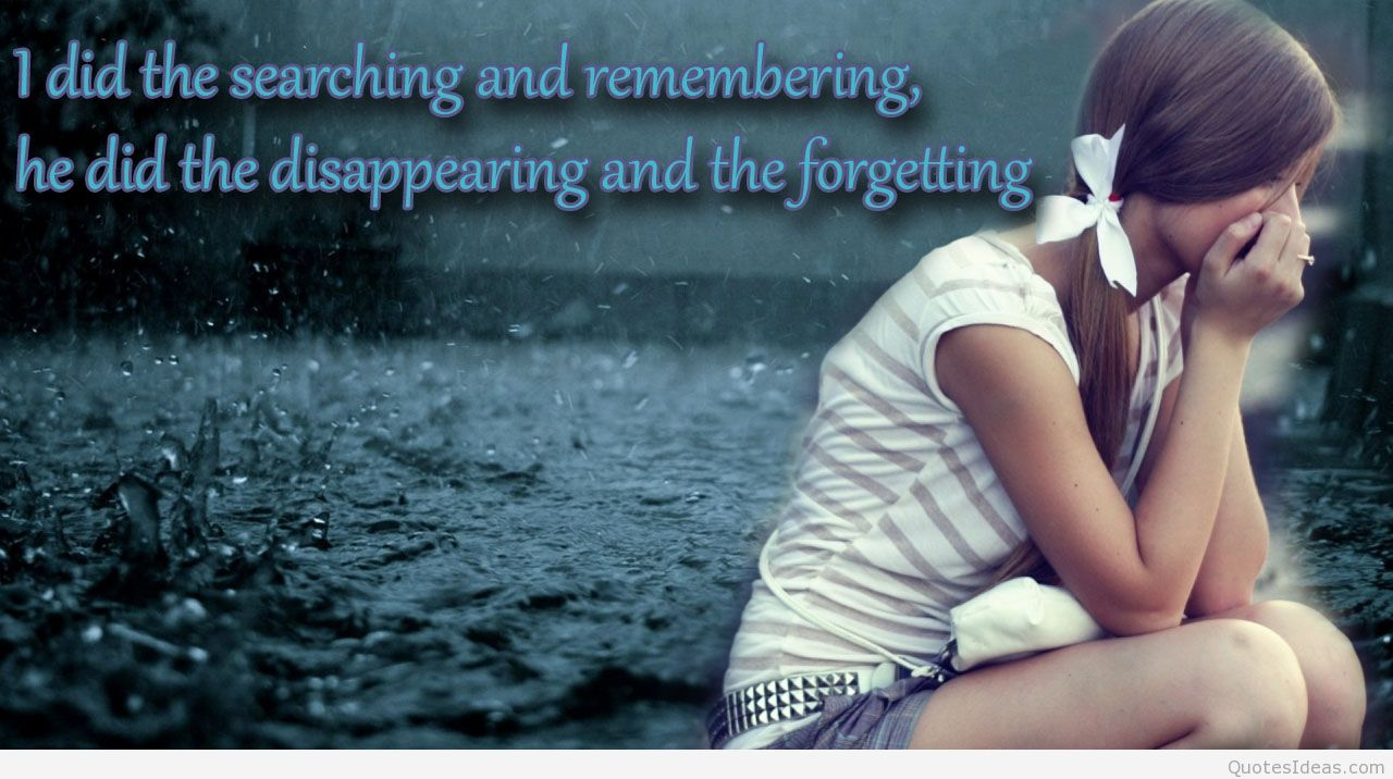 Sad Love Quotes On Facebook Hover Me - Girl Love Wallpaper With Quotes - HD Wallpaper
