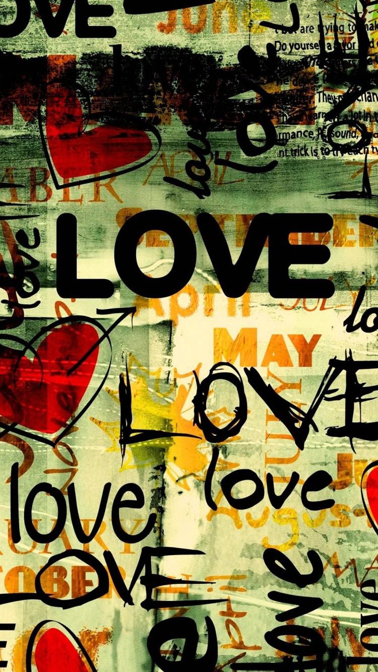 Wallpaper Iphone 6 Writing Love 4 - Love Wallpaper Iphone 7 - HD Wallpaper