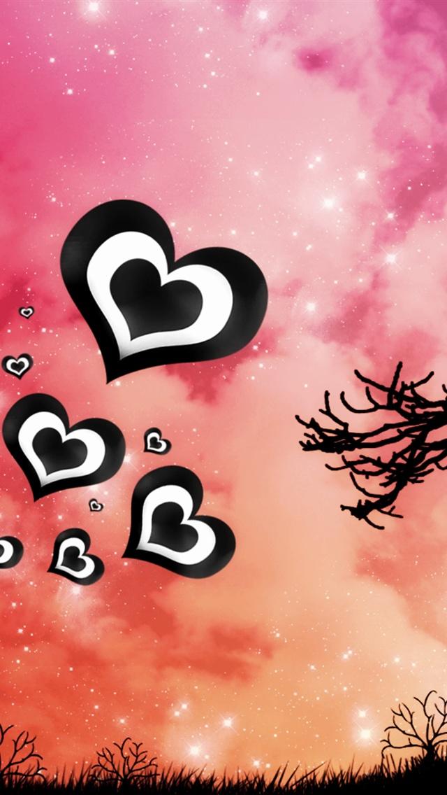 Purple Sky, Love Heart Iphone Wallpaper Iphone 5 - Iphone Wallpaper 5 Love - HD Wallpaper