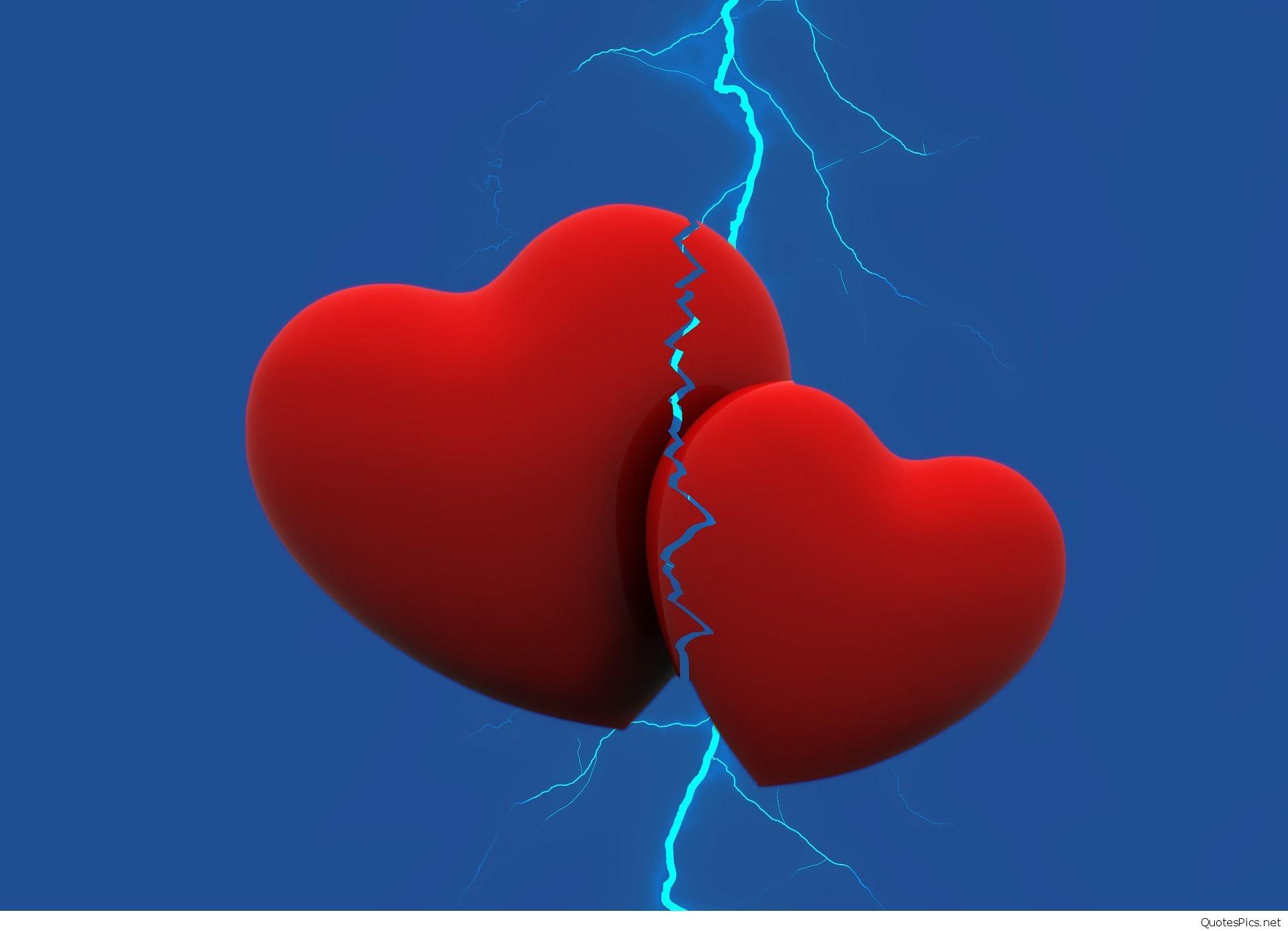1920x1387, Broken Heart Sad Quotes With Wallpapers - Heart - HD Wallpaper