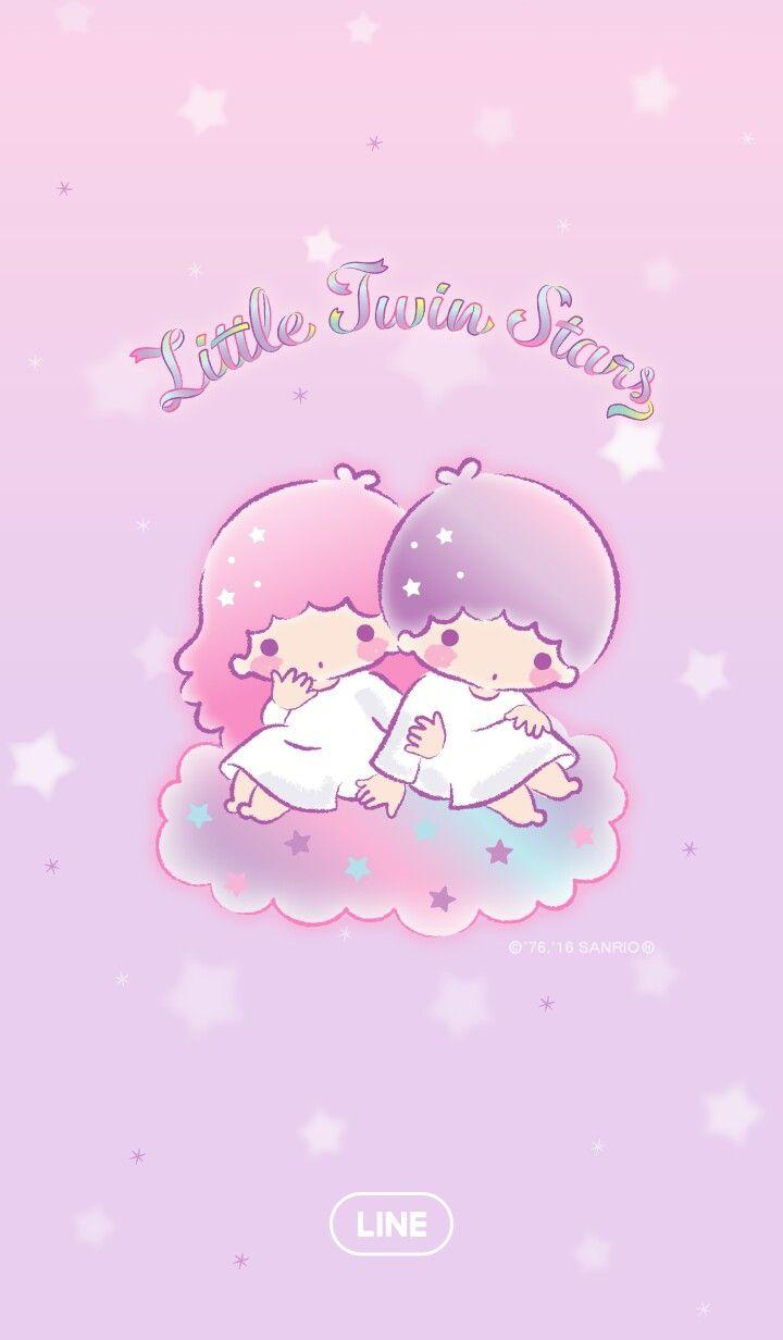 Little Twin Stars Line - HD Wallpaper