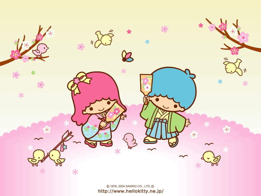 Little Twin Stars Wallpaper - Hello Kitty Little Twin Stars - HD Wallpaper