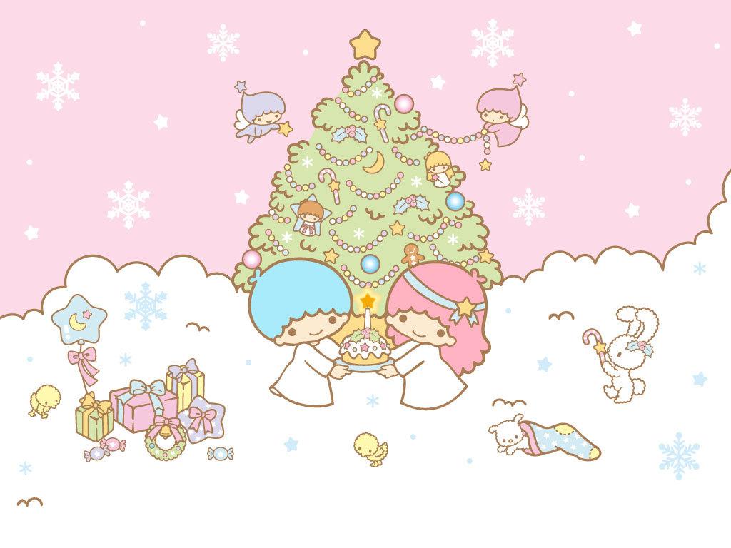 Little Twin Stars Christmas - HD Wallpaper