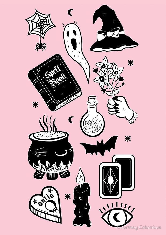 The Pastel Stoner Pastel Goth Witch Art 707x1000 Wallpaper Teahub Io