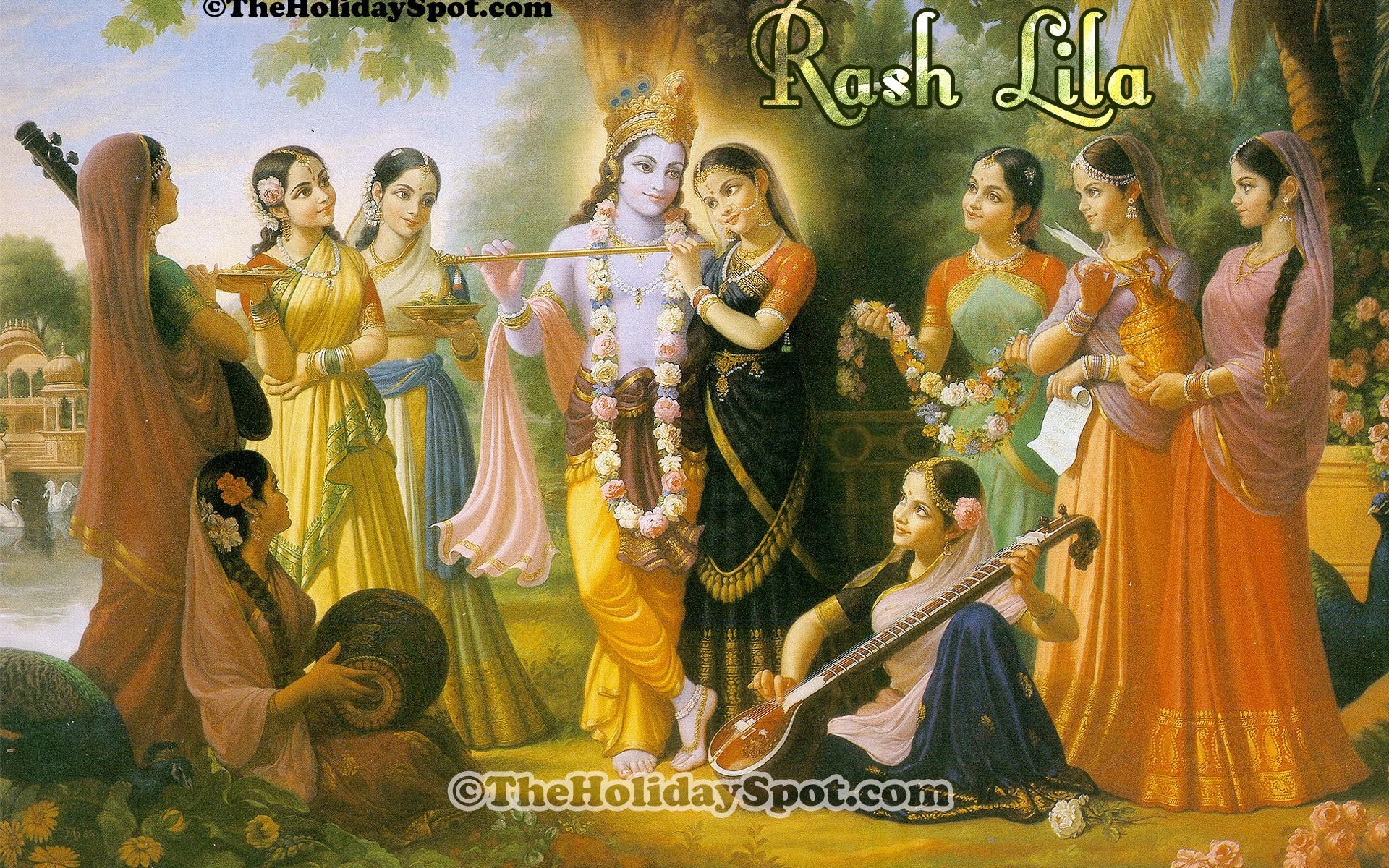 Painting Iskcon Radha Krishna - HD Wallpaper