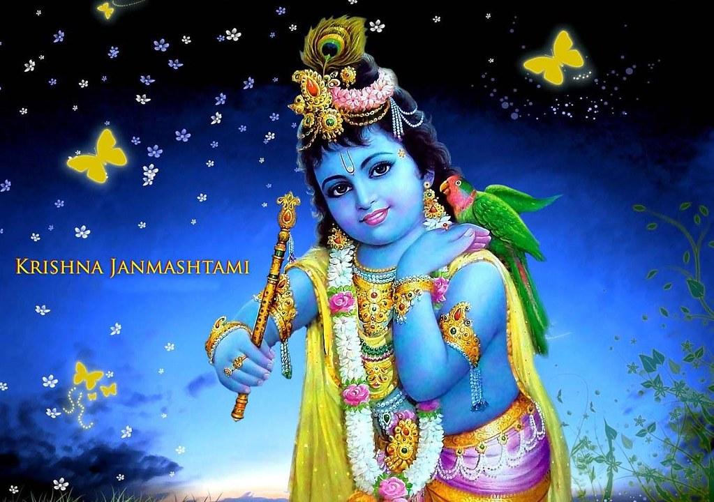 Desktop Wallpaper 3d God Krishna - HD Wallpaper