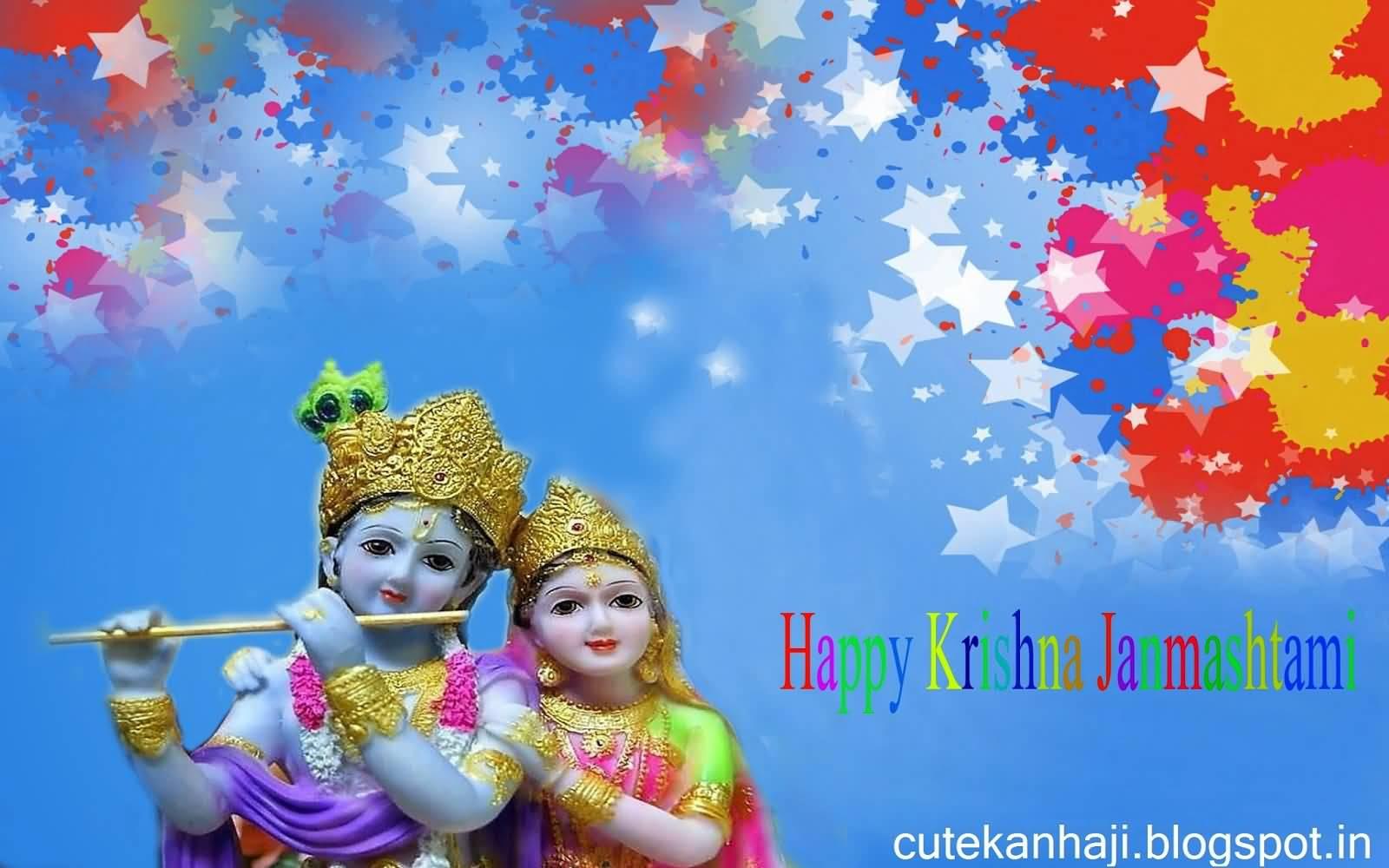 Happy Krishna Janmashtami Colorful Hd Wallpaper - Happy Krishna Janmashtami Hd - HD Wallpaper