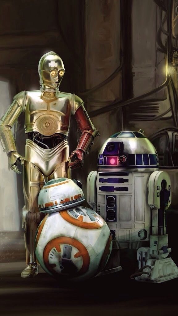 C3po R2d2 Robot Smartphone Wallpaper Star Wars 576x1024 Wallpaper Teahub Io