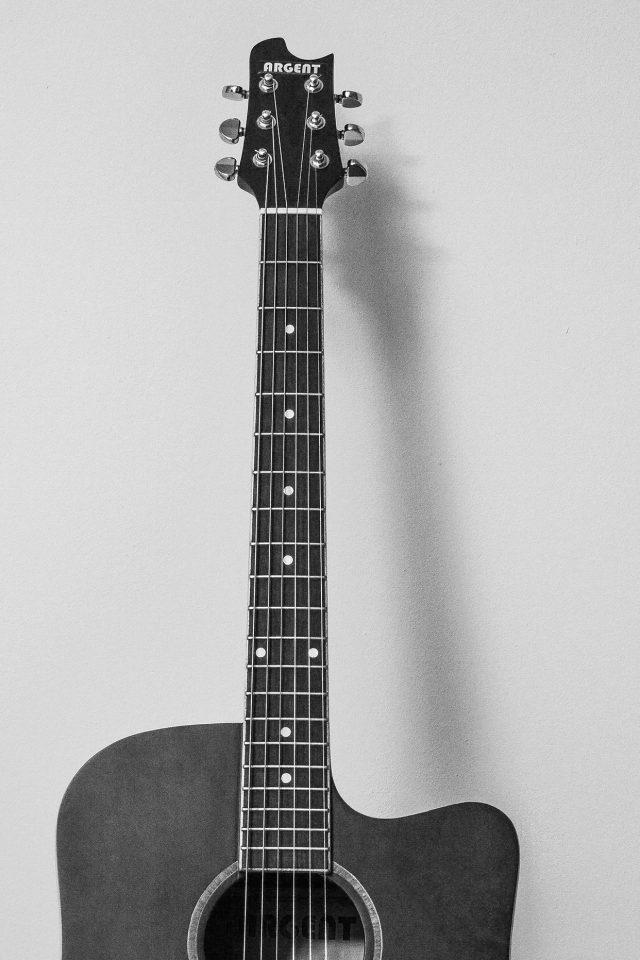 Guitar Art Bw Dark Music Son Iphone Wallpaper - Iphone 7 Guitar Wallpaper Iphone - HD Wallpaper