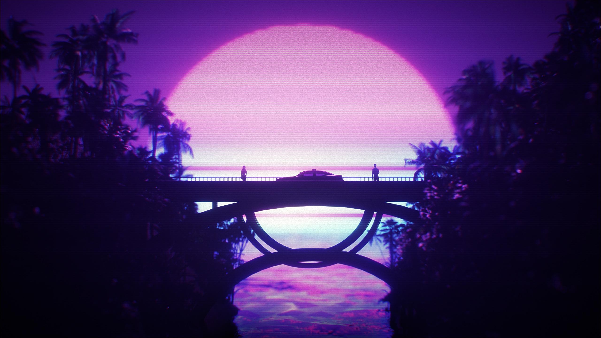 Neon Purple Wallpaper 4k - HD Wallpaper