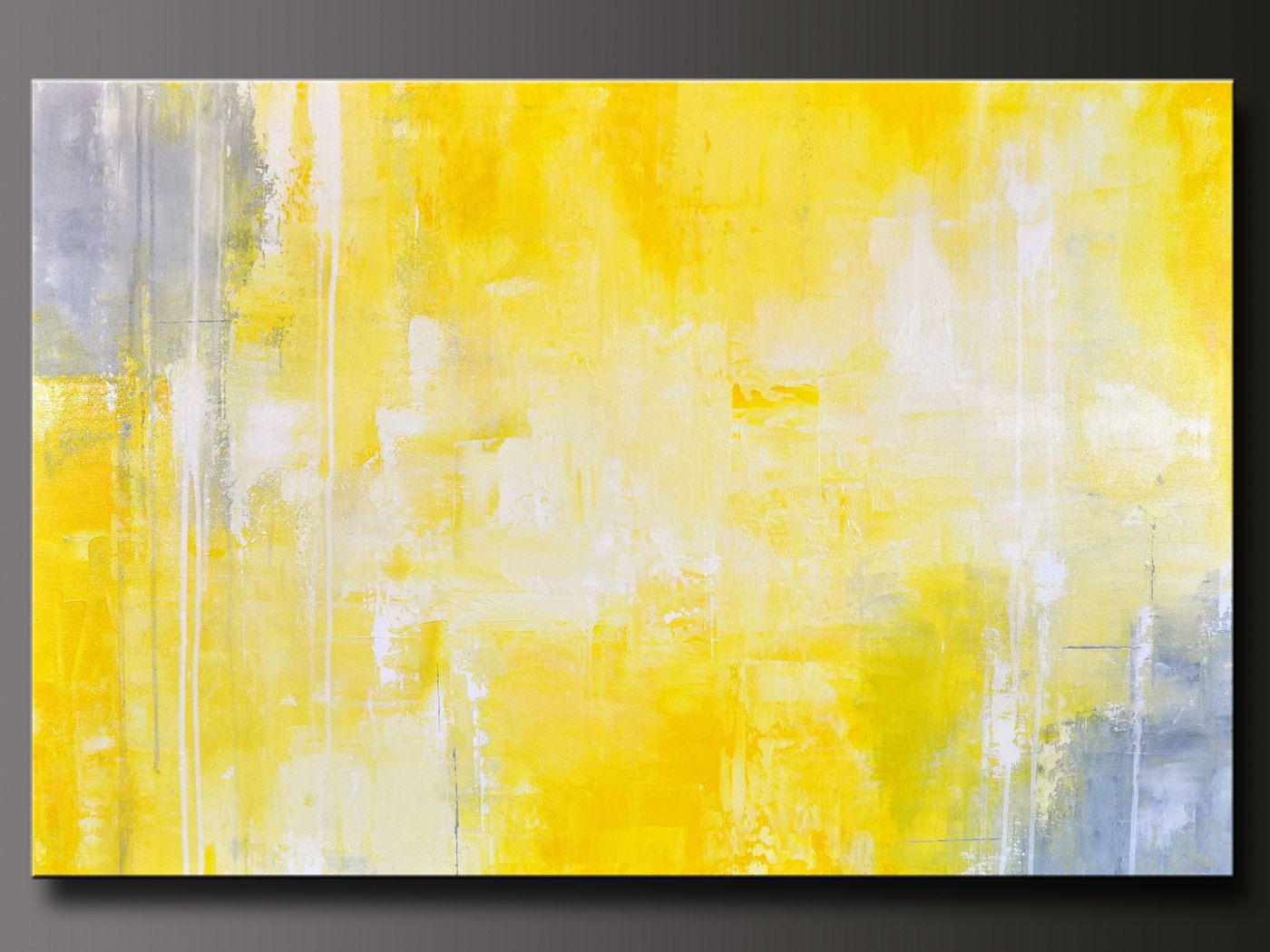 Mustard Yellow Wall Art Lovely Abstract In Yellow 13 - Diy Painting Yellow Abstract - HD Wallpaper