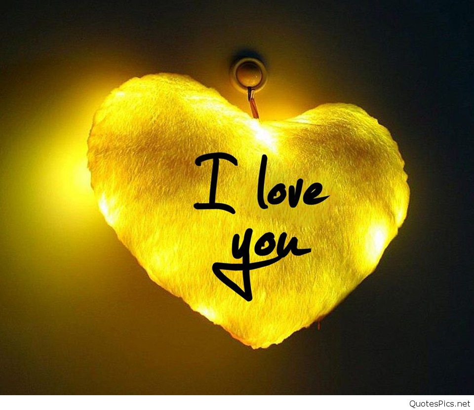 Cute Love For Mobile Phones Wallpapers Mobile Is 4k - Love You Yellow Heart - HD Wallpaper