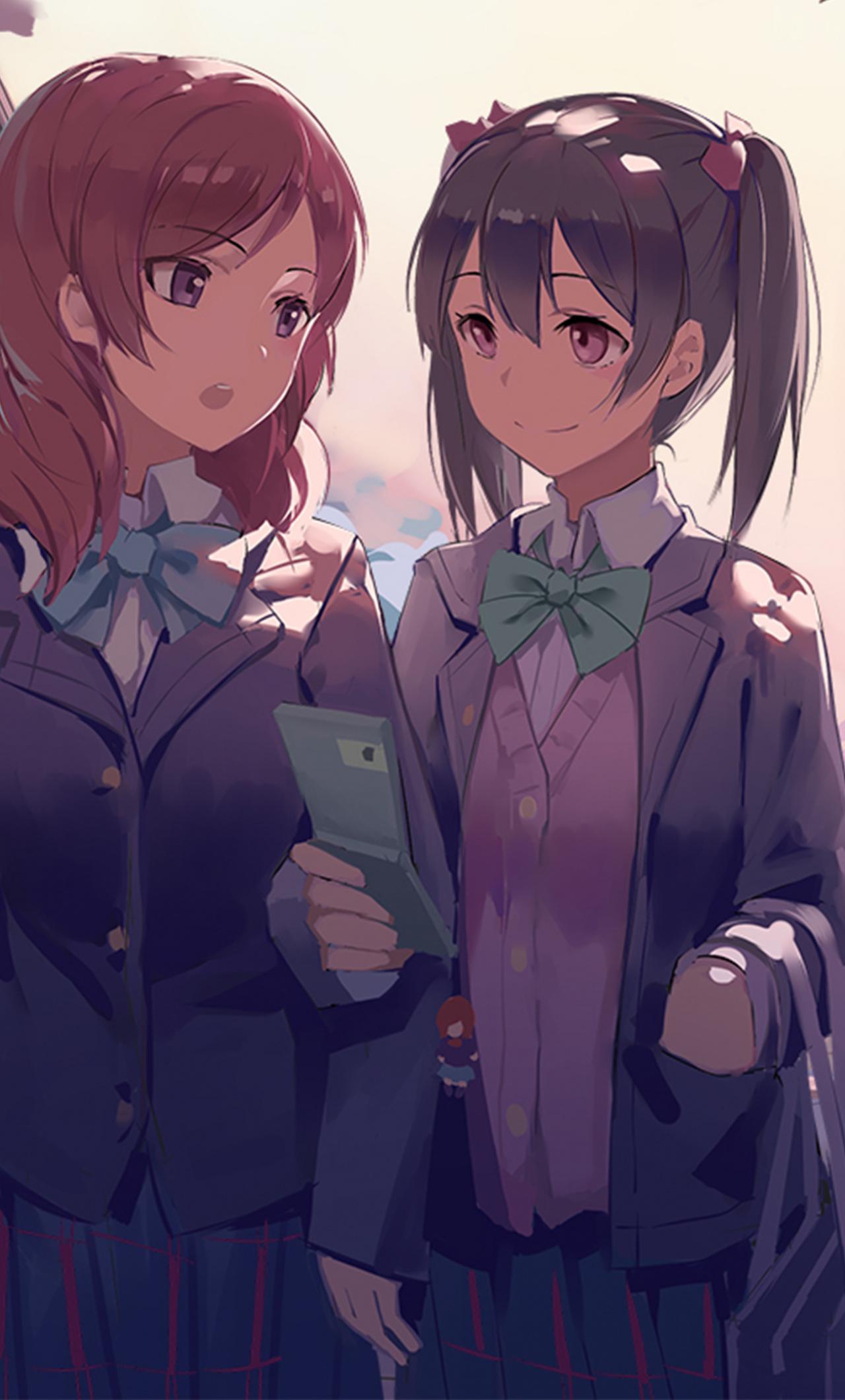 Wallpaper Anime Girls, Artwork, Maki Nishikino, Nico - Love Live - HD Wallpaper