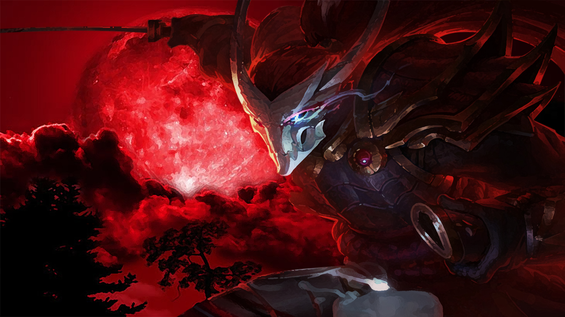 Yasuobm Blood Moon Yasuo 1920x1080 Wallpaper Teahub Io