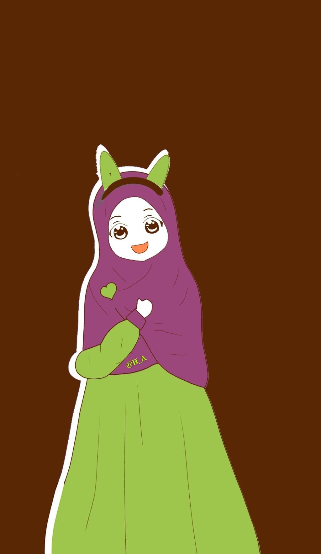 Wallpaper Kartun Hd Muslimah Muslimah Kartun Muslimah 1024x1767 Wallpaper Teahub Io