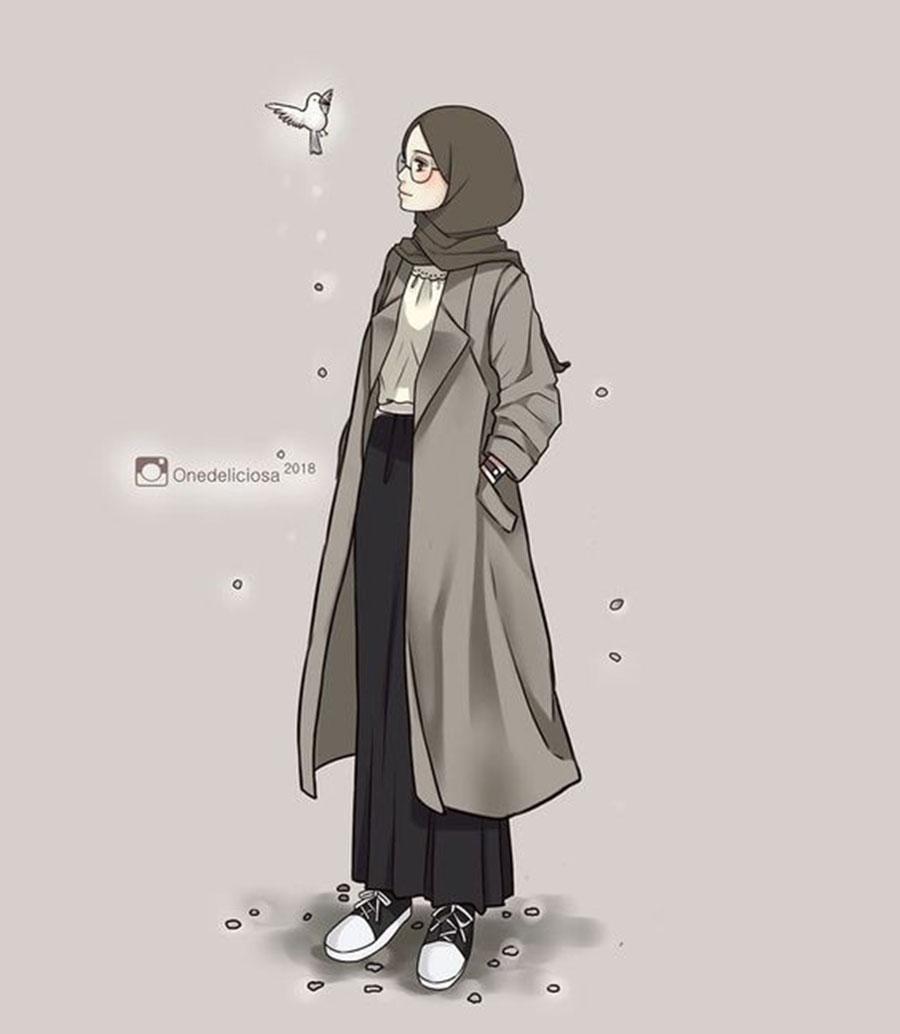 1000 Gambar Kartun Wanita Muslimah Cantik Dan Lucu Kartun Muslimah Art 900x1034 Wallpaper Teahub Io