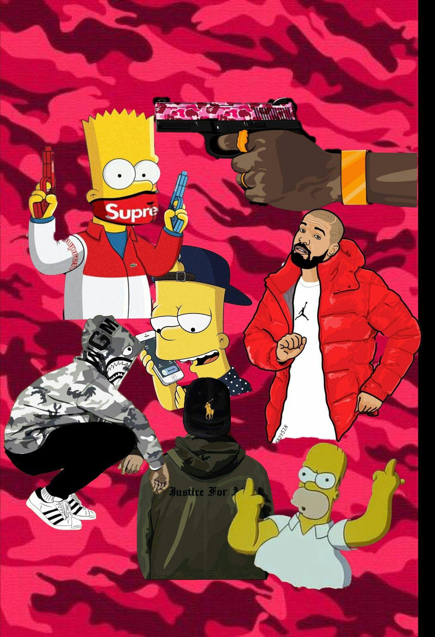 Wallpaper - Bape Bart Simpson - HD Wallpaper