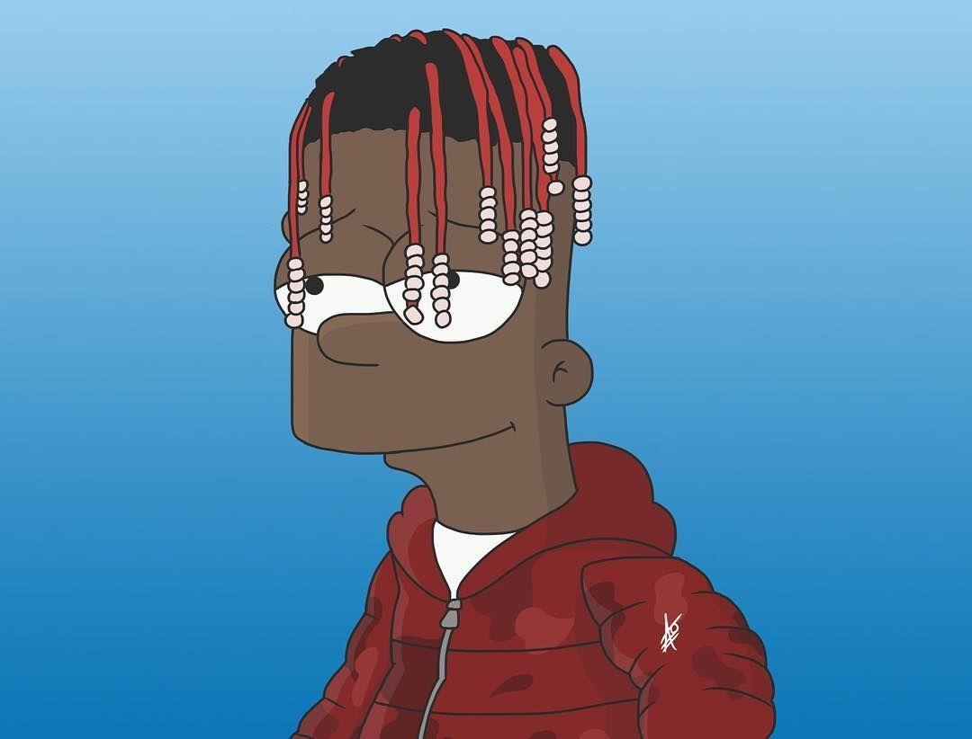 Dallas Foster On Art - Bart Simpson Lil Yachty - HD Wallpaper