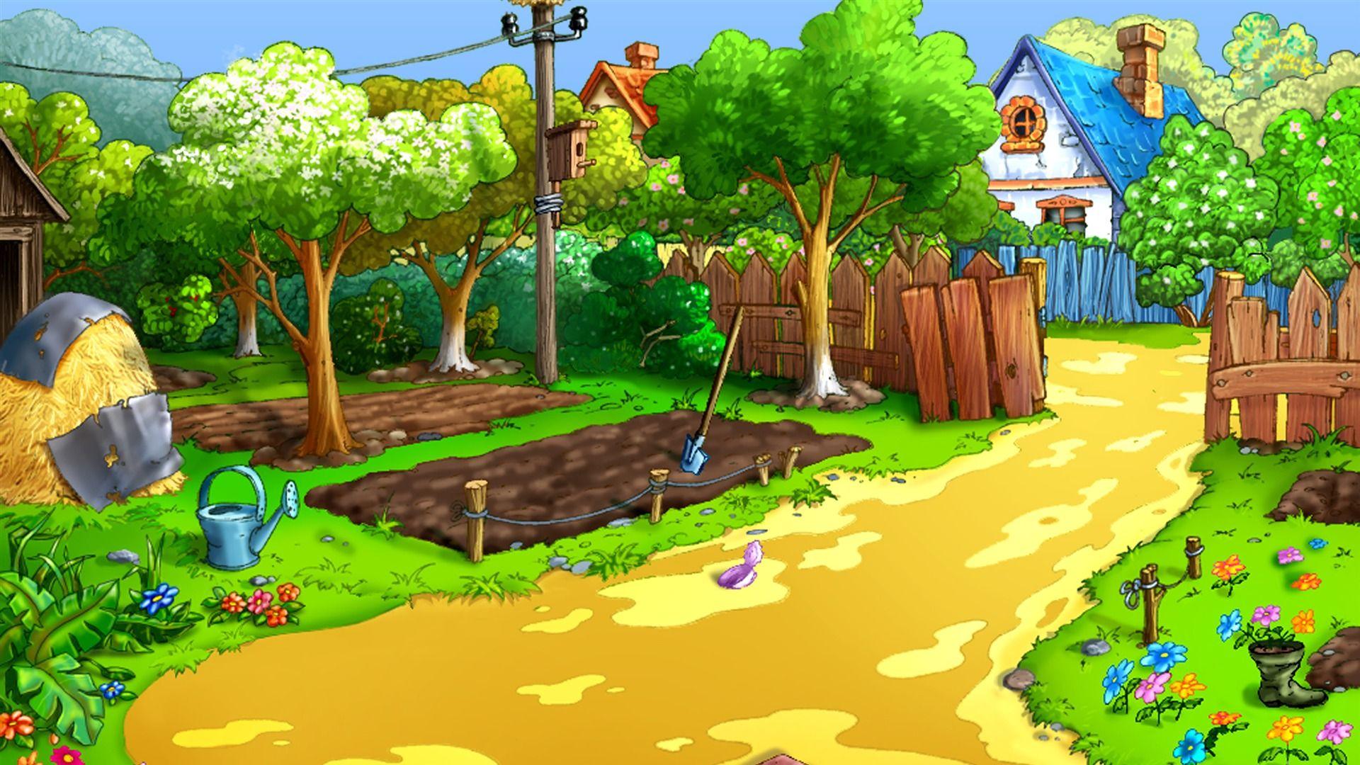 Cartoon Nature Wallpapers - Cartoon Farm Background Hd - HD Wallpaper