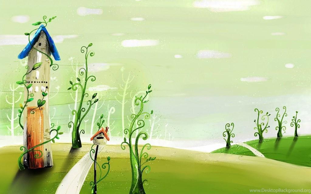 Wallpaper Kartun Padang Rumput - Spring Fairyland - HD Wallpaper
